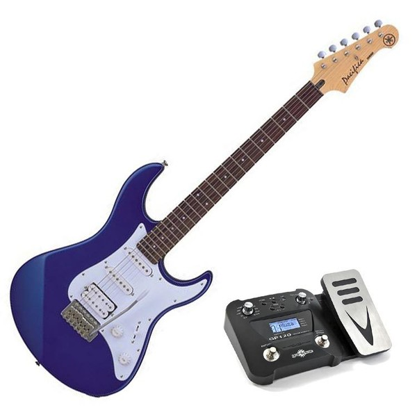 Yamaha Pacifica 012 Electric Guitar, Metallic Blue, Pedal Pack
