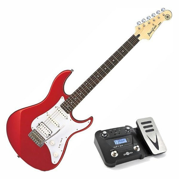 Yamaha Pacifica 012 Electric Guitar, Red, Pedal Pack