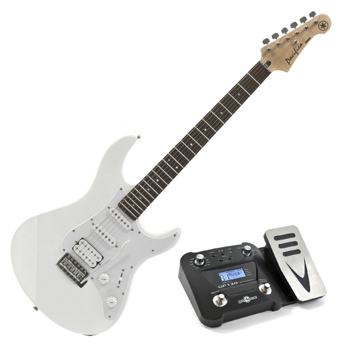 yamaha pacifica 012 electric guitar vintage white pedal pack at. Black Bedroom Furniture Sets. Home Design Ideas