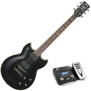 Yamaha SG1820A SG Modern Electric Guitar, Black with GP120 Pedal