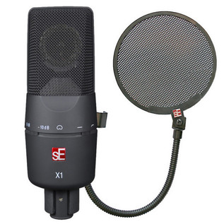 sE Electronics sE-X1 Mic & 2 FREE Metal Pop Screens