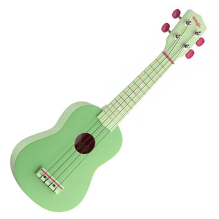 Stagg Soprano Ukulele & Bag, Grass Green