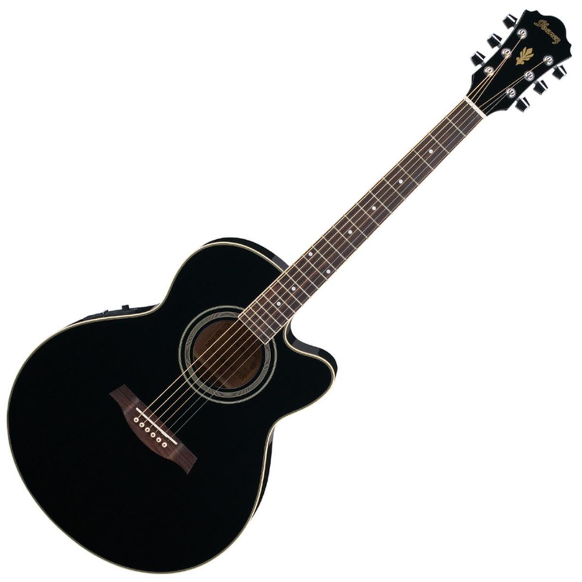 guitare electro acoustique de disque ibanez ael8e bk noir. Black Bedroom Furniture Sets. Home Design Ideas