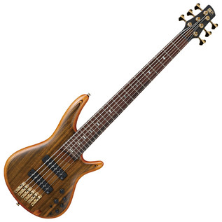 Ibanez SR1206 Premium 6 String Bass, Vintage Natural Flat