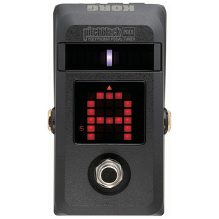 Korg PitchBlack Poly, Polyphonic Pedal Tuner - front1