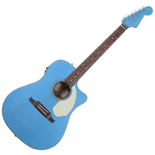 Fender Sonoran SCE Cutaway Electro Acoustic Guitar, Lake Placid Blue
