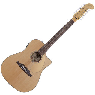 Fender Villager 12 String Cutaway Electro Acoustic Guitar, Natural