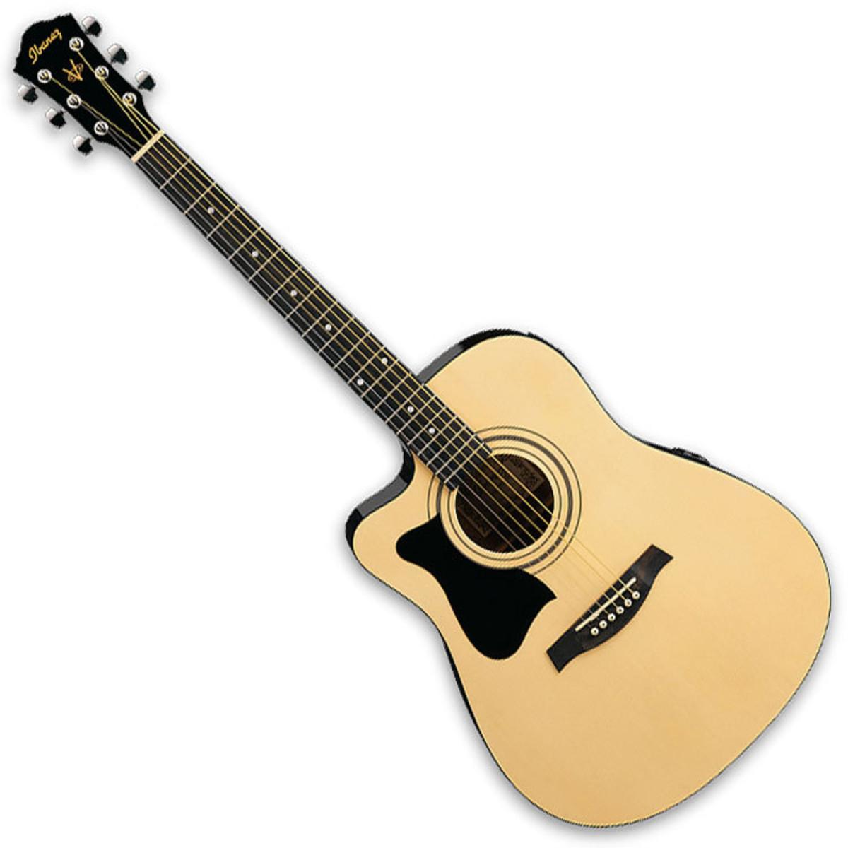 ibanez v72lece guitare lectro acoustique gaucher naturel. Black Bedroom Furniture Sets. Home Design Ideas