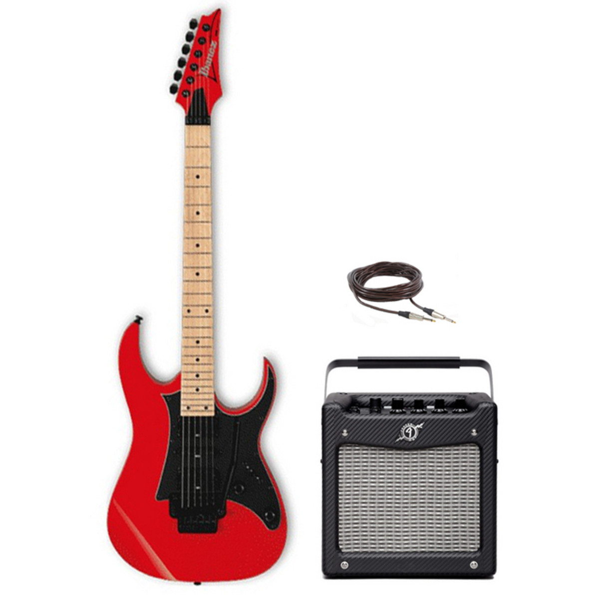Disc Ibanez Rg350mz Electric Guitar Red Amp Pack At