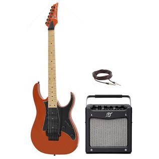 Ibanez RG350MZ Electric Guitar, Roadster Orange Met, Amp Pack