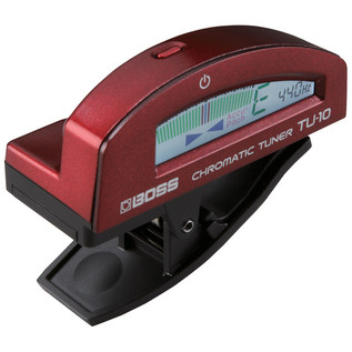 Boss TU-10 Clip-On Tuner, Red