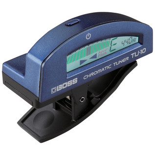 Boss TU-10 Clip-On Tuner, Blue