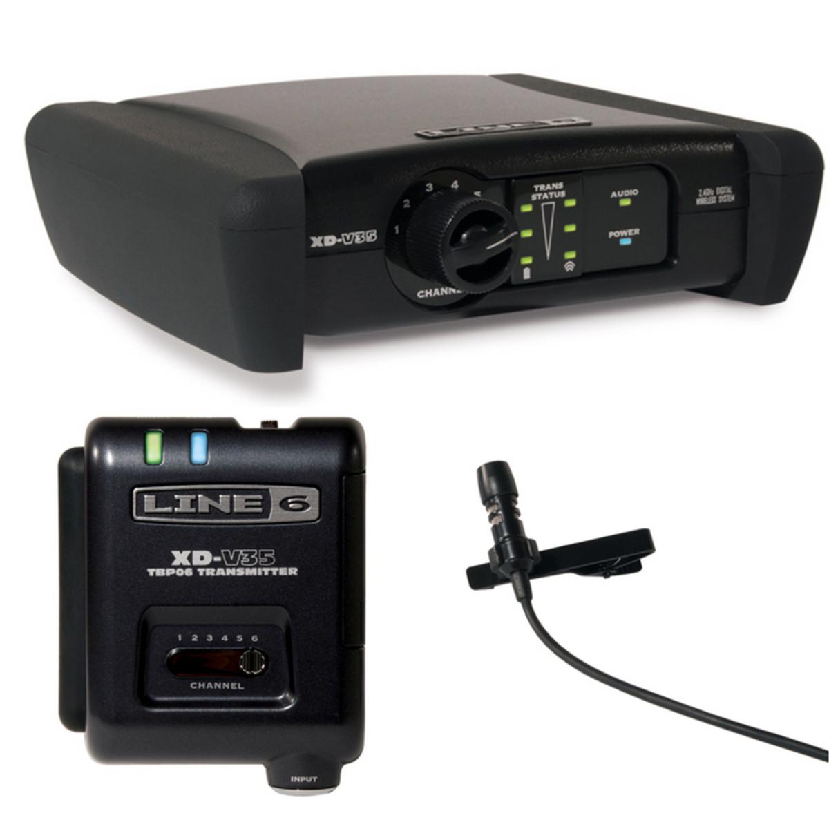 Image of Line 6 XD-V35 Digital Wireless Lavalier Mic System