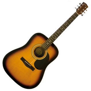 Squier by Fender SA-105 Acoustic Guitar, Sunburst