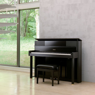 Roland LX-10F SuperNATURAL Digital Piano, Satin Black - photo