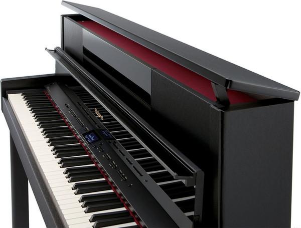 Roland LX-10F SuperNATURAL Digital Piano, Satin Black - angle