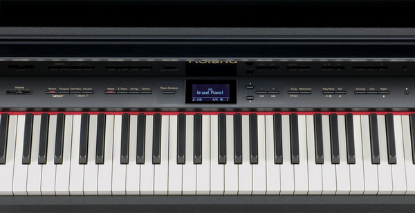 Roland LX-10F SuperNATURAL Digital Piano, Satin Black - panel