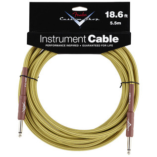 Fender Custom Shop 5.5m Instrument Cable, Tweed