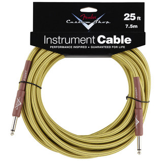 Fender Custom Shop 7.5m Instrument Cable, Tweed