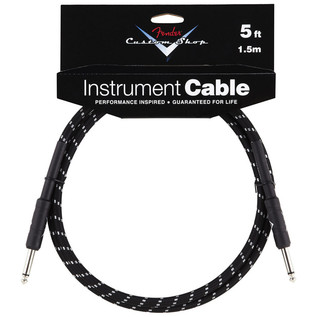Fender Custom Shop 1.5m Instrument Cable, Black Tweed