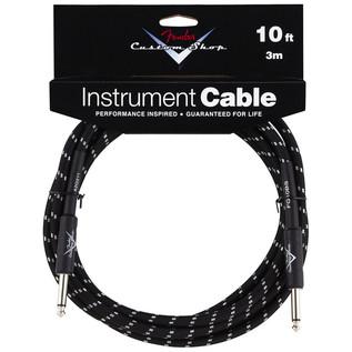 Fender Custom Shop 3m Instrument Cable, Black Tweed