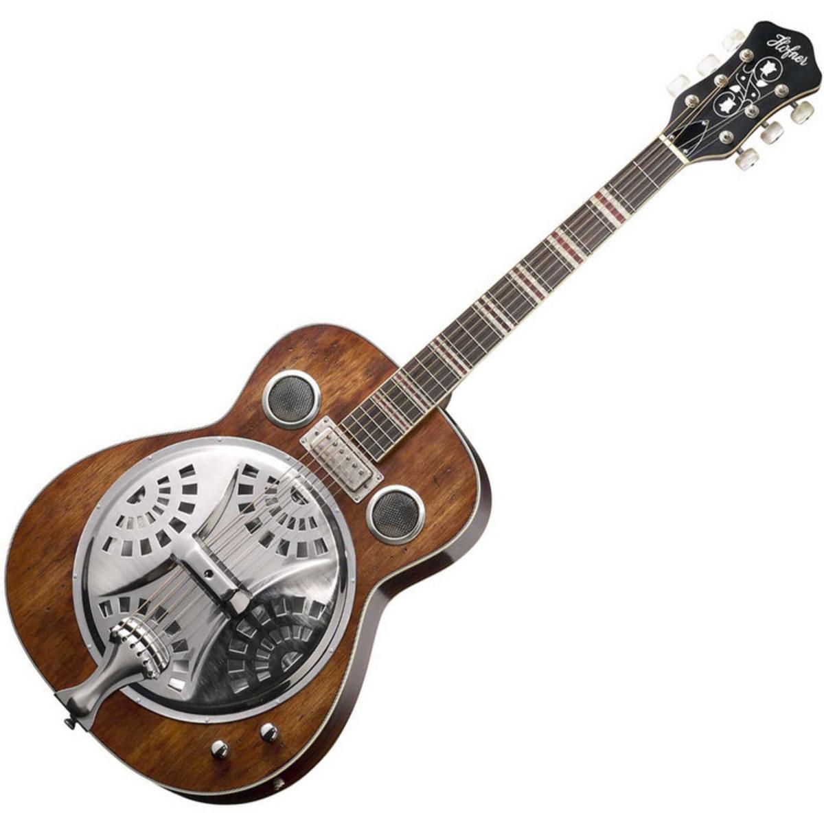 disc hofner hct resonator guitar vintage natural at. Black Bedroom Furniture Sets. Home Design Ideas