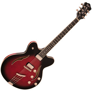 Hofner Verythin Special Electric Guitar, Dark Cherry