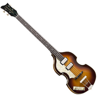 Hofner German Vintage 61 Cavern Left Handed Bass, Sunburst