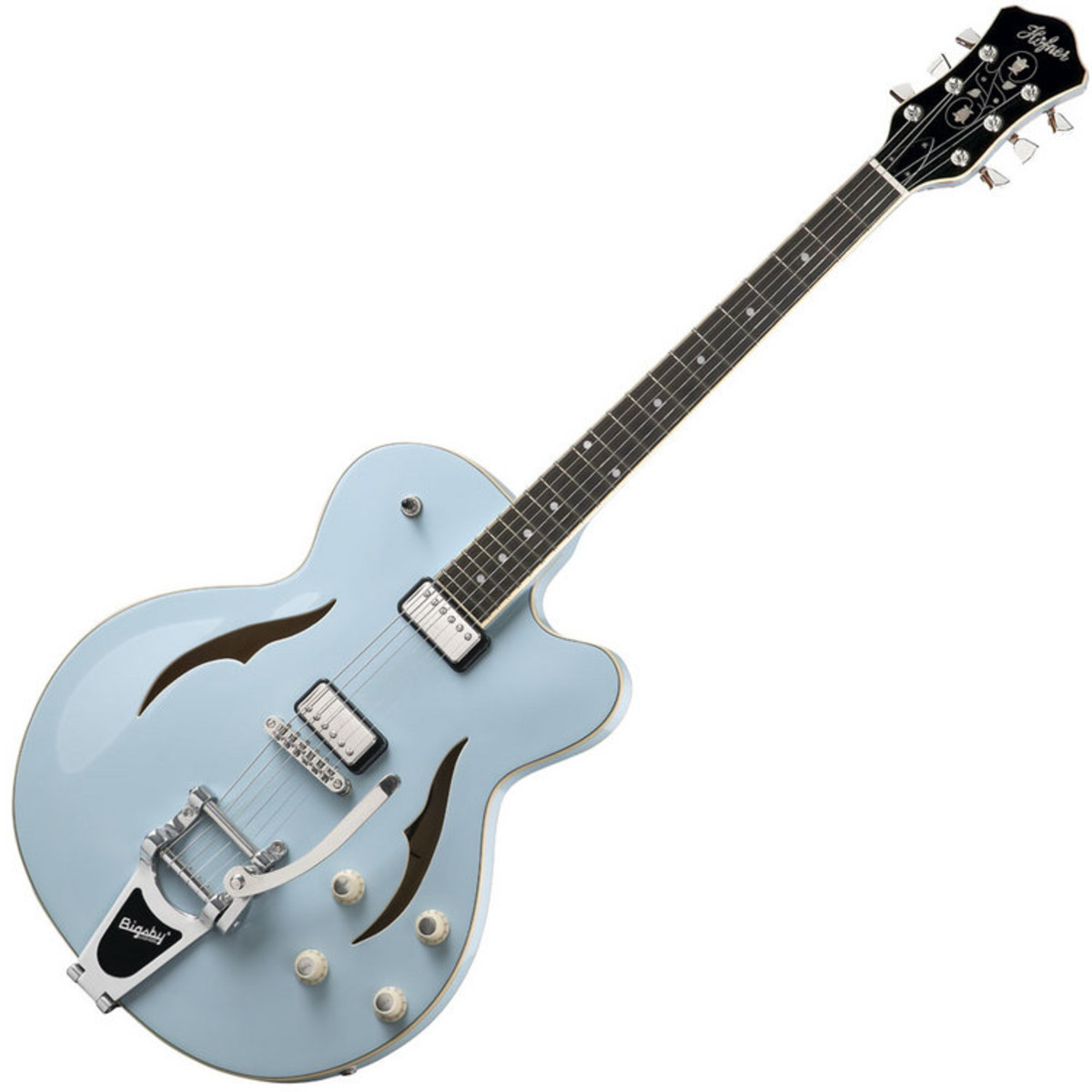 hofner verythin single cutaway electric guitar light blue at. Black Bedroom Furniture Sets. Home Design Ideas
