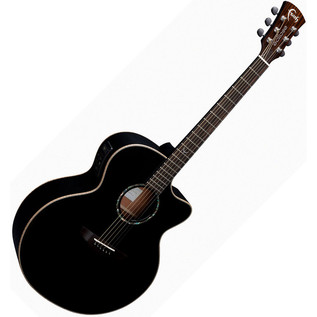 Faith Eclipse Jupiter Jumbo Electro Acoustic Guitar, Black Gloss