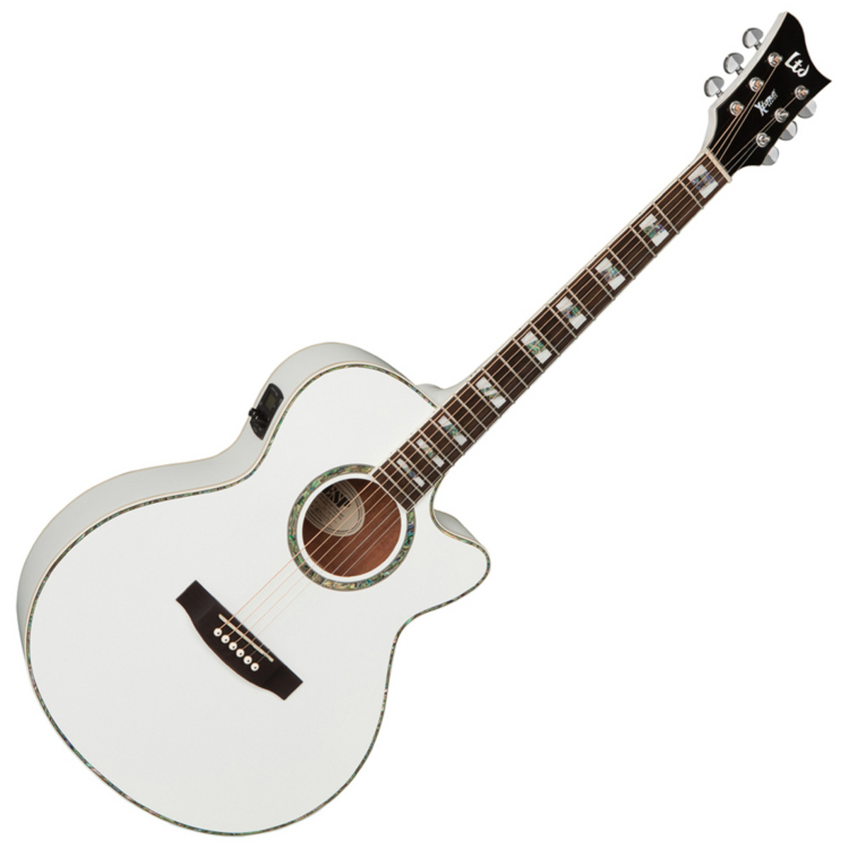 esp ltd ac 10e x tone electro acoustic guitar pearl white used at. Black Bedroom Furniture Sets. Home Design Ideas