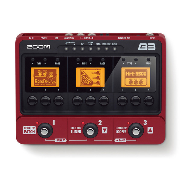 Zoom B3 Effects & Amp Simulator Pedal