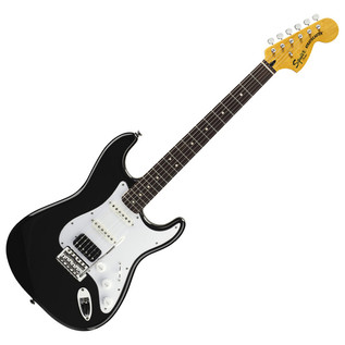 Squier by Fender Vintage Modified HSS Stratocaster Guitar, Black