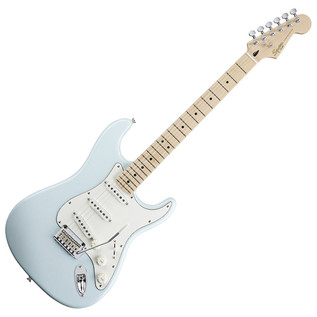 Squier Fender Deluxe Stratocaster Electric Guitar, MN, Daphne Blue