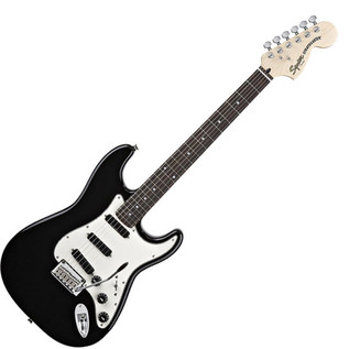 Squier by Fender Deluxe Hot Rails Strat Guitar, Black