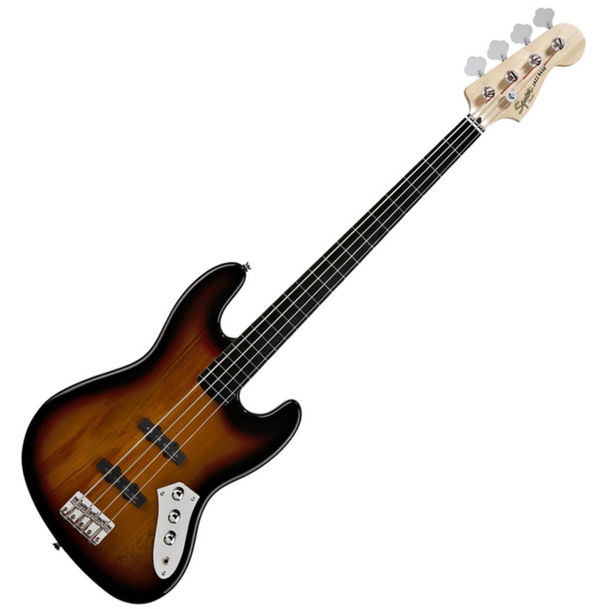 squier by fender 2012 vintage modified jazz bass fretless sunburst at. Black Bedroom Furniture Sets. Home Design Ideas