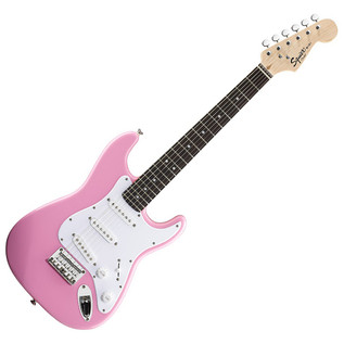 Squier by Fender Mini Stratocaster Guitar, Pink