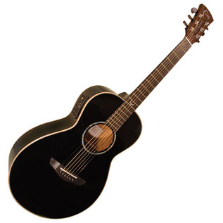 Faith Eclipse Mercury Electro-Acoustic Guitar, Black Gloss