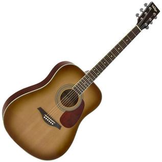 Vintage V400SB Solid Top Acoustic Guitar, Sunburst
