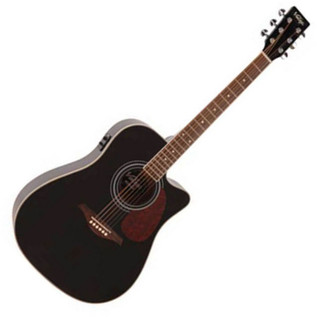 Vintage VEC500 Acoustic Guitar, Black
