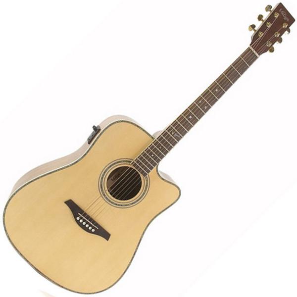 Vintage VEC1400N Acoustic Guitar,Natural