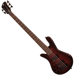 Spector Bass Legend 5 Classic Left Handed Bass Guitar, Black Cherry