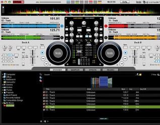 Hercules DJ Console 4-Mx DJ Controller - software image
