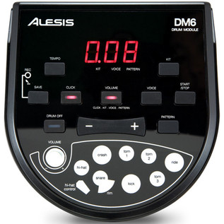 Alesis DM6 Drum Kit + Amp Package Deal - module front