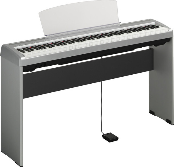 Yamaha P-95 Digital Piano, Silver - with stand