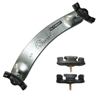 Everest Shoulder Rest 4/4 Titanium Silver