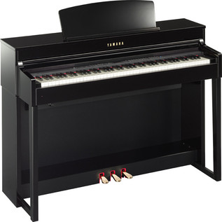 Yamaha Clavinova CLP-440PE, Polished Ebony, Includes Yamaha Bench - side