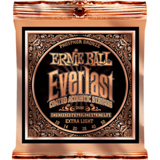 Ernie Ball Everlast 2550 Phosphor Acoustic Guitar Strings 10-50