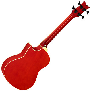 Ortega D-Walker Extra Short Scale Electro Acoustic Bass Red Rear