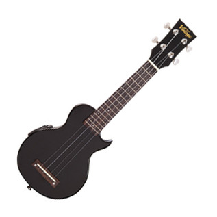 Vintage Soprano Electric Ukulele, Gloss Black